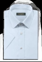 Chemise bleue manches courtes 100% coton-folded
