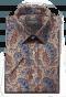 Beige short sleeved paisley 100% cotton Shirt-folded