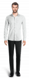 White linen Shirt-View Front