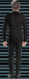 Schwarzes Hemd aus Leinen-Ansicht Rückseite