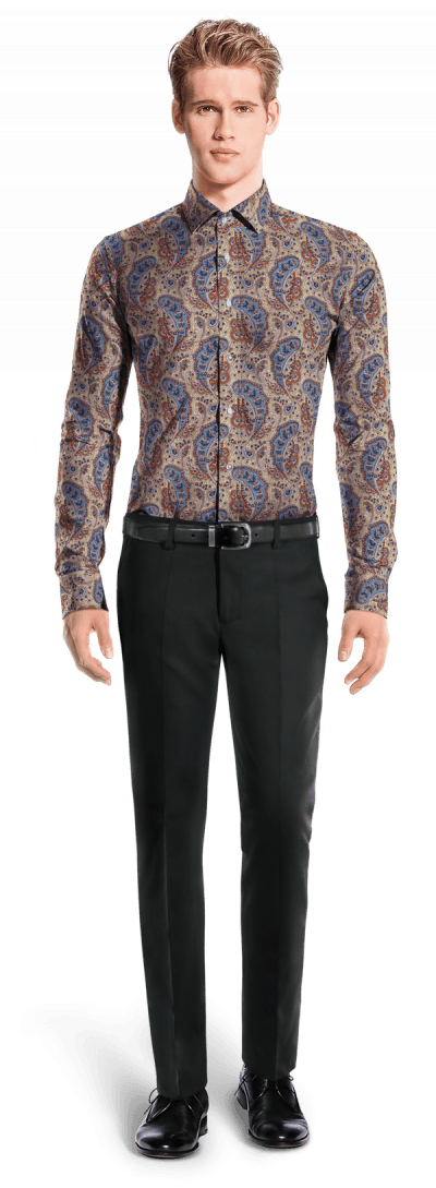 Beige paisley 100% cotton Shirt