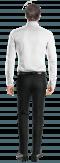 White oxford Shirt-View Back