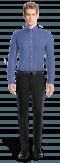 Blue 100% cotton Shirt-View Front