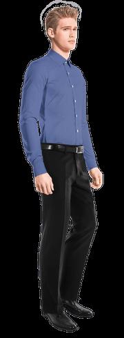 Blue 100% cotton Shirt-side