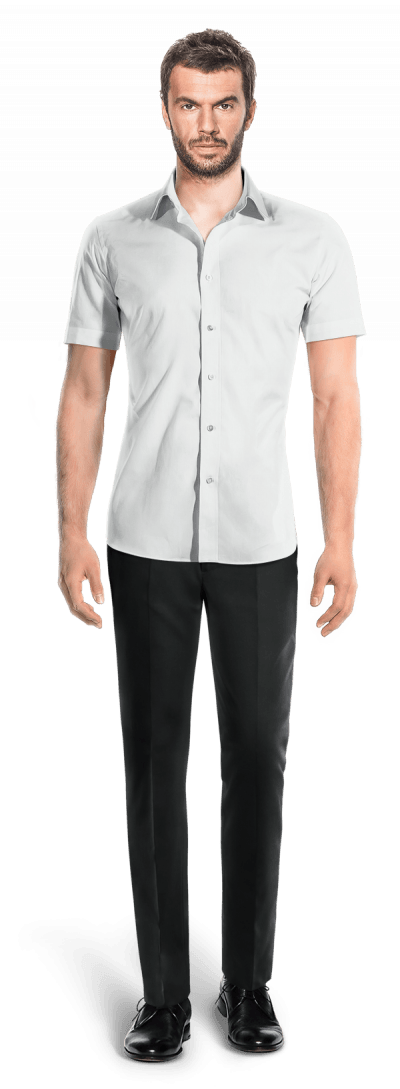 White short sleeved linen Shirt