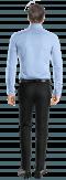 Chemise bleue 100% coton-Vue Dos