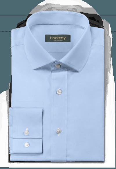 синяя хлопковая рубашка