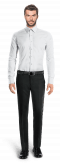 Camicia bianca 100% cotone-Vista Frontale