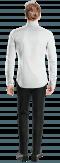 Weißes Hemd aus Leinen-Ansicht Rückseite