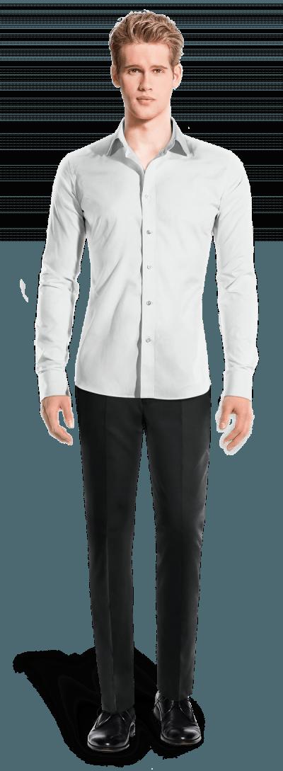 Weißes Hemd aus Leinen