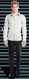 Weißes Hemd aus Leinen-Ansicht Vorderseite