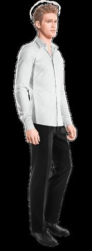 White linen Shirt-side