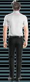 белая рубашка с коротким рукавом-Вид сзади