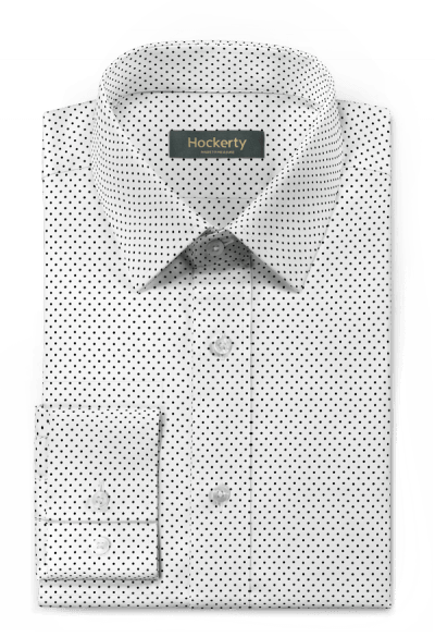 White dotted 100% cotton Shirt