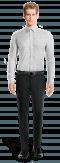 Chemise blanche à pois 100% coton-Vue Avant