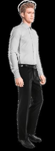 Chemise blanche à pois 100% coton-side