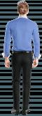 синяя хлопковая рубашка-Вид сзади