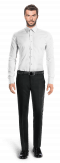 White oxford Shirt-View Front