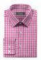 Pink checked 100% cotton Shirt-folded
