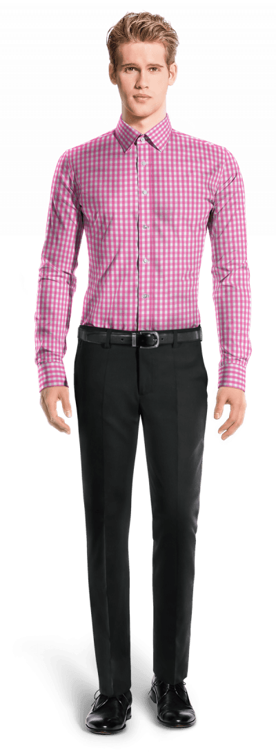 Pink checked 100% cotton Shirt