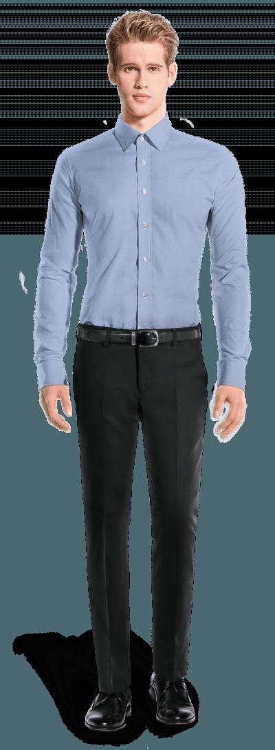 Blaues Hemd aus Baumwolle