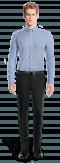 Camicia blu 100% cotone-Vista Frontale