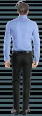 Blaues gestreiftes Hemd aus Baumwolle-Ansicht Rückseite