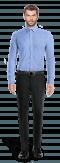 Blaues gestreiftes Hemd aus Baumwolle-Ansicht Vorderseite
