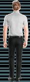 Chemise blanche manches courtes à pois 100% coton-Vue Dos
