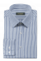 Blue striped 100% cotton Shirt-folded