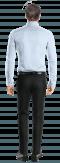 Camicia blu 100% cotone-Vista Posteriore