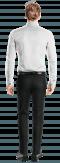 Weißes Hemd mit Umschlag & aus Baumwolle-Ansicht Rückseite