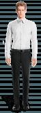 Weißes Hemd mit Umschlag & aus Baumwolle-Ansicht Vorderseite