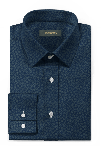 Blue floral 100% cotton Shirt