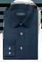 Chemise bleue à motif floral 100% coton-folded