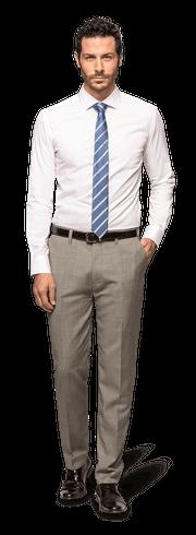 Weißes Hemd aus Baumwolle-1