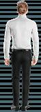 Weißes Hemd aus Baumwolle-Ansicht Rückseite