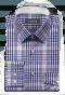 Camicia blu a quadri 100% cotone-folded