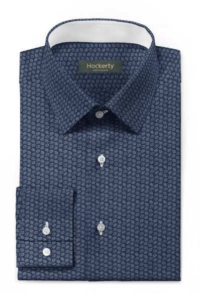 Blue paisley 100% cotton Shirt