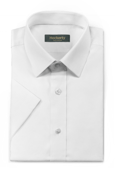 Chemise blanche manches courtes oxford