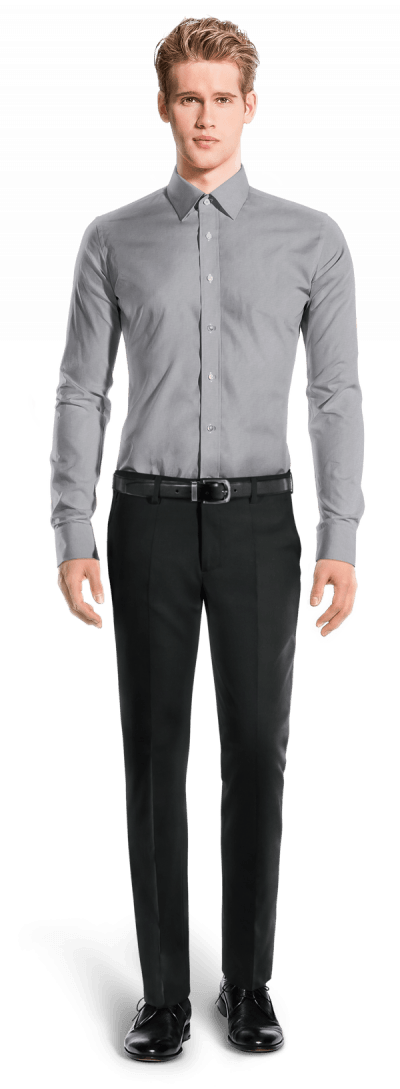 Chemise grise oxford