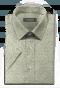 зелёная хлопковая рубашка с коротким рукавом с цветочным рисунком-folded