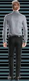 Camicia bianca micropattern 100% cotone-Vista Posteriore