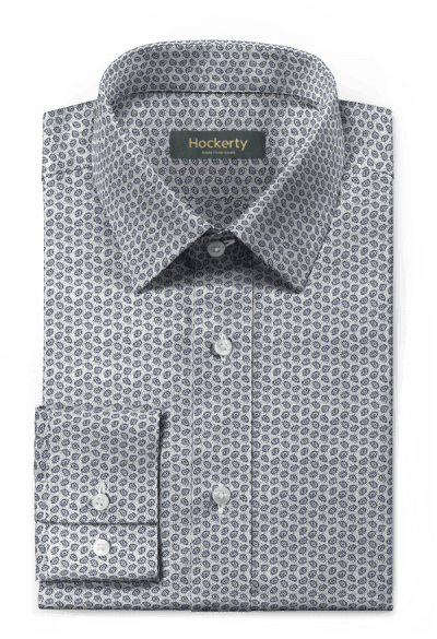 White micropattern 100% cotton Shirt