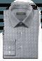 белая хлопковая рубашка с микрорисунком-folded
