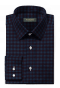 Blue flannel checked Shirt-folded