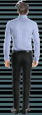 Blaues kariertes Hemd aus Baumwolle-Ansicht Rückseite
