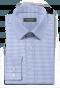 Blaues kariertes Hemd aus Baumwolle-folded
