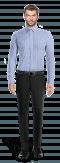 Blaues kariertes Hemd aus Baumwolle-Ansicht Vorderseite