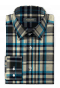 Chemise bleue en flanelle à carreaux-folded